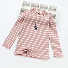 billige Sweaters og cardigans til piger-Børn Pige Basale Ensfarvet Langærmet Polyester Trøje og cardigan Sort