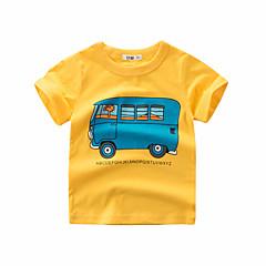 tanie Odzież dla chłopców-Dzieci Dla chłopców Aktywny Jendolity kolor Krótki rękaw Bawełna T-shirt