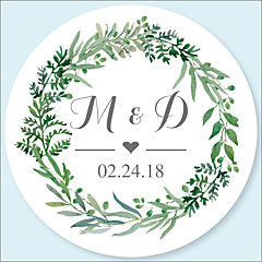 Wedding Stickers, Labels & Tags - 48 pcs Circular Stickers / Envelope Sticker All Seasons