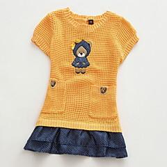 billige Sweaters og cardigans til piger-Børn / Baby Pige Trykt mønster Kortærmet Trøje og cardigan