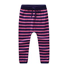 billige Bukser og leggings til piger-Børn Pige Vintage Ensfarvet Bomuld Bukser Rosa 100