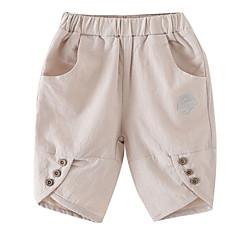billige Bukser og leggings til piger-Baby Pige Basale Ensfarvet Polyester Bukser Blå 110