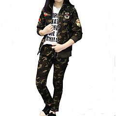 billige Tøjsæt til piger-Børn Pige Gade / Punk & gotisk Sport Trykt mønster / Patchwork Patchwork / Trykt mønster Langærmet Bomuld Tøjsæt