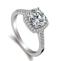 billige Motering-Dame Elegant Ring - Platin Belagt, Fuskediamant Kjærlighed, Lykkelig Koreansk, Søt, Mote 5 / 6 / 7 Sølv Til Engasjement / Bursdag