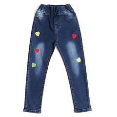 billige Bukser og leggings til piger-Børn Pige Blomstret Jeans