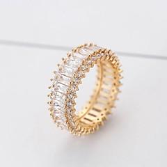 billige Motering-Dame Syntetisk Diamant Lasso Ring - Kobber Stilfull, Klassisk 6 / 7 / 8 / 9 Gull / Sølv Til Daglig