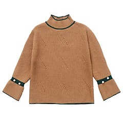 billige Sweaters og cardigans til piger-Børn / Baby Pige Patchwork Langærmet Trøje og cardigan