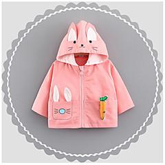 billige Overtøj til babyer-Baby Pige Trykt mønster Langærmet Trenchcoat