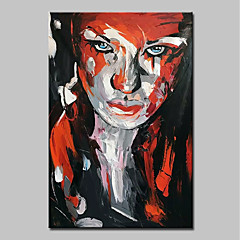 cheap -Mintura® Hand Painted Modern Abstract Knife Girl Landscape Oil Painting on Canvas Wall Art Picture for Home Decor Ready To Hang