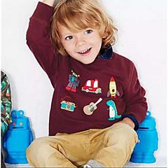 billige Hættetrøjer og sweatshirts til piger-Børn / Baby Pige Basale Sport Stribet Trykt mønster Langærmet Bomuld Hættetrøje og sweatshirt