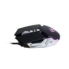 billiga Möss-AJAZZ USB-kabel Spelmus / ergonomisk mus Optical aj110s 6 pcs nycklar Led andnings ljus 4 Justerbara DPI-nivåer 6 programmerbara tangenter 800/1200/2400/3200 dpi