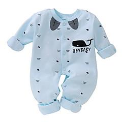 hesapli Bebekl Kıyafetleri Erkek Çocukları-Bebek Genç Erkek Temel Günlük Desen Hayvan Kalıbı Uzun Kollu Pamuklu Tek Parça Havuz