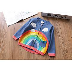 billige Sweaters og cardigans til piger-Børn Pige Trykt mønster Langærmet Trøje og cardigan