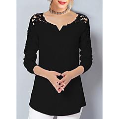 Kadın's V Yaka Gömlek Solid