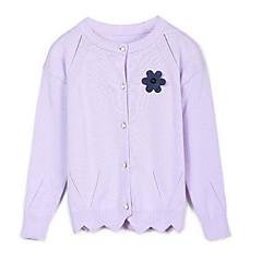 billige Sweaters og cardigans til piger-Baby Pige Ensfarvet Langærmet Trøje og cardigan