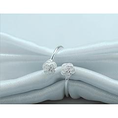 billige Motering-Dame Elegant Skulptur Åpne Ring - S925 Sterling Sølv Blomst Stilfull, Kunstnerisk, Elegant Justerbar Sølv Til Gave Ut på byen
