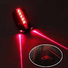 Safety Light / Tail Light LED Bike Light Cycling Waterproof, Adjustable, Cool 50 lm 2 AAA Batteries Red Cycling / Bike