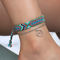 baratos Bijoux de Corps-Entrançado tornozeleira - Onda Vintage, Étnico, Boho Azul Para Diário / Rua / Para Noite / Mulheres / 2pcs
