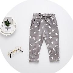 billige Babyunderdele-Baby Pige Basale Trykt mønster Bomuld Bukser