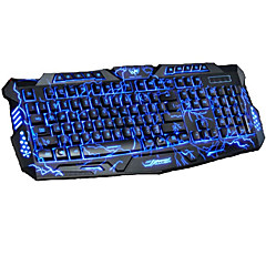 billiga Keyboards-Factory OEM Kabel Multi färg bakgrundsbelysning 104 pcs Office Keyboard Färggradient Batteridriven driven