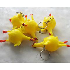 baratos Chaveiros-Galinha Chaveiro Amarelo Irregular Plástico, Liga Desenho Para Escola / Para Noite