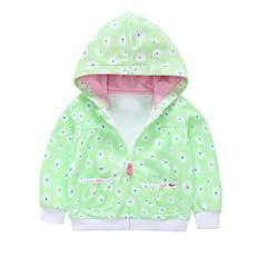 billige Overtøj til babyer-Baby Pige Blomstret / Geometrisk Langærmet Jakke og frakke