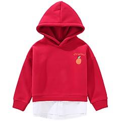 billige Hættetrøjer og sweatshirts til drenge-Børn / Baby Drenge Aktiv Daglig Patchwork Patchwork Langærmet Normal Bomuld Hættetrøje og sweatshirt Blå