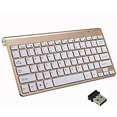 billiga Keyboards-Factory OEM 2.4G Multi färg bakgrundsbelysning 78 pcs Office Keyboard Färggradient Batteridriven driven