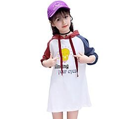 billige Hættetrøjer og sweatshirts til piger-Børn Pige Aktiv Skole Trykt mønster Langærmet Lang Bomuld Hættetrøje og sweatshirt