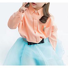 tanie Odzież dla dziewczynek-Dzieci Dla dziewczynek Aktywny Jendolity kolor Długi rękaw Bawełna Koszula