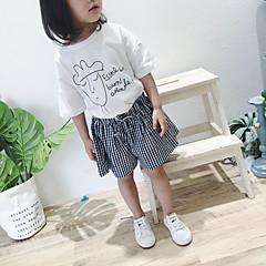 billige Bukser og leggings til piger-Børn Pige Prikker / Ternet Shorts