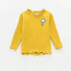 billige Babyoverdele-Baby Pige Ensfarvet Langærmet Bluse