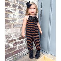 billige Bukser og leggings til piger-Børn / Baby Pige Ensfarvet Uden ærmer / Langærmet Overall og jumpsuit