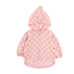 billige Overtøj til babyer-Baby Pige Ensfarvet / Prikker Langærmet dun- og bomuldsforet