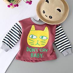 billige Sweaters og cardigans til babyer-Baby Pige Basale Ensfarvet / Trykt mønster Kortærmet Trøje og cardigan