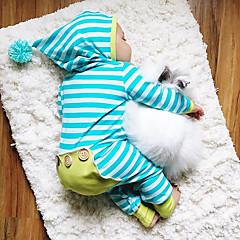 povoljno Odjeća za bebe Za dječake-Dijete Dječaci Aktivan / Osnovni Dnevno Prugasti uzorak Dungi Dugih rukava Pamuk Jednodijelno Plava