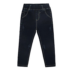 billige Drengebukser-Børn Drenge Basale Ensfarvet Bomuld Jeans