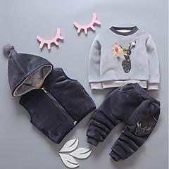 billige Babytøj-Baby Pige Ensfarvet / Farveblok Langærmet Tøjsæt