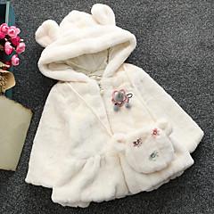 billige Overtøj til babyer-Baby Pige Blomstret Langærmet dun- og bomuldsforet