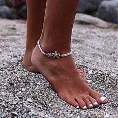 baratos Bijoux de Corps-Contas tornozeleira - Estrela, Por sorte Básico, Fashion Preto Para Diário Escola Mulheres