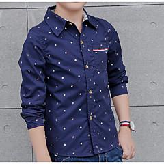 billige Overdele til drenge-Børn Drenge Trykt mønster Langærmet Skjorte