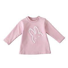 billige Hættetrøjer og sweatshirts til babyer-Baby Pige Aktiv Trykt mønster Langærmet Hættetrøje og sweatshirt