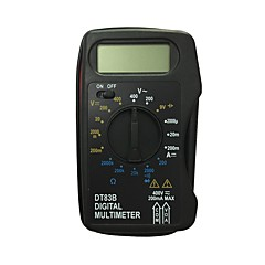 tanie Instrumenty elektryczne-dt83b ręczny multimetr cyfrowy LCD do użytku domowego i samochodowego