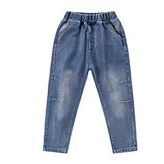 billige Drengebukser-Børn Drenge Basale Ensfarvet / Geometrisk Bomuld Jeans