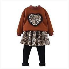 billige Tøjsæt til piger-Børn / Baby Pige Leopard Langærmet Tøjsæt
