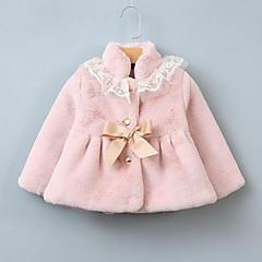 billige Overtøj til babyer-Baby Pige Patchwork Langærmet dun- og bomuldsforet