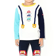 baratos Roupas de Meninos-Infantil / Bébé Para Meninos Estampado Manga Longa Blusa