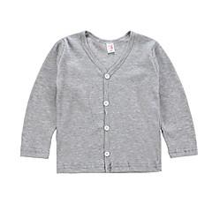 billige Jenteklær-Baby Jente Ensfarget / Stripet Langermet Genser og cardigan
