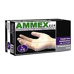 Χαμηλού Κόστους Ασφάλεια-100pcs PVC Γάντι Προστατευτικά γάντια Ασφάλεια και προστατευτικό εξοπλισμό Διαφανές αυτοκόλλητο Ανθεκτικό στη φθορά Αναπνέει