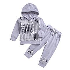 billige Tøjsæt til piger-Børn Pige Prikker Langærmet Tøjsæt